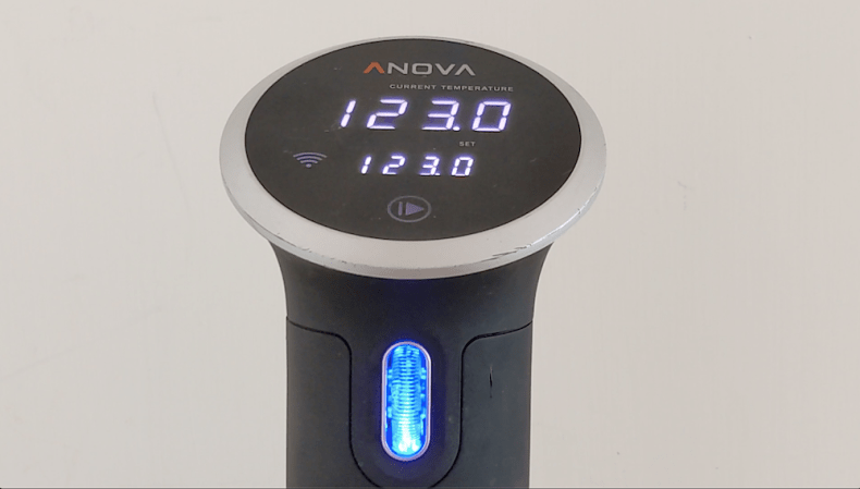 preheat sous vide bath to 123F using Anova precision cooker