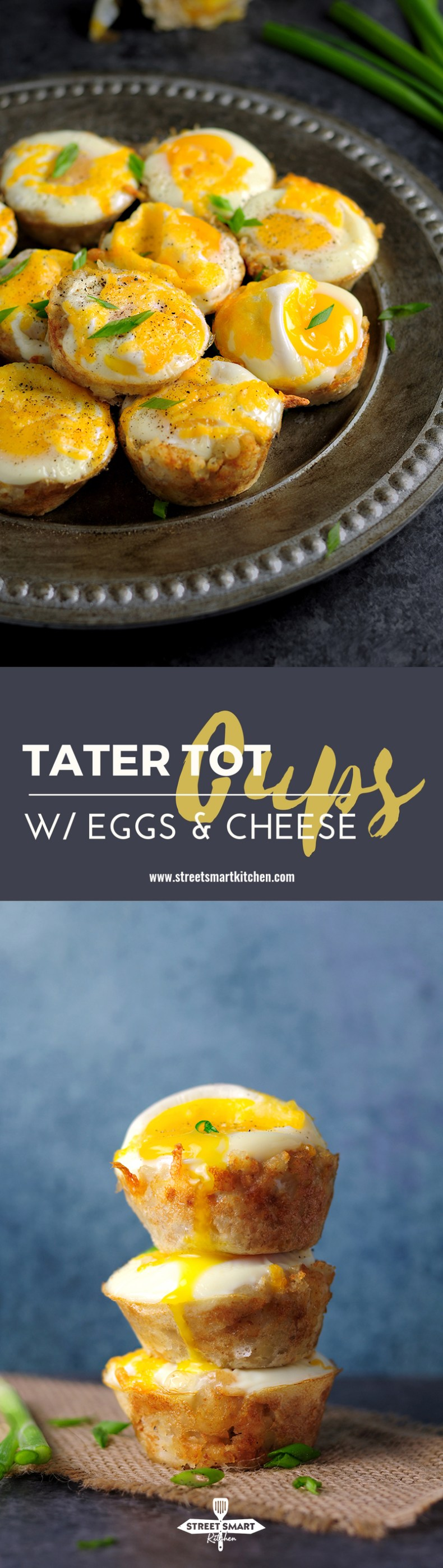 Tater Tot Cups with Eggs and Cheese