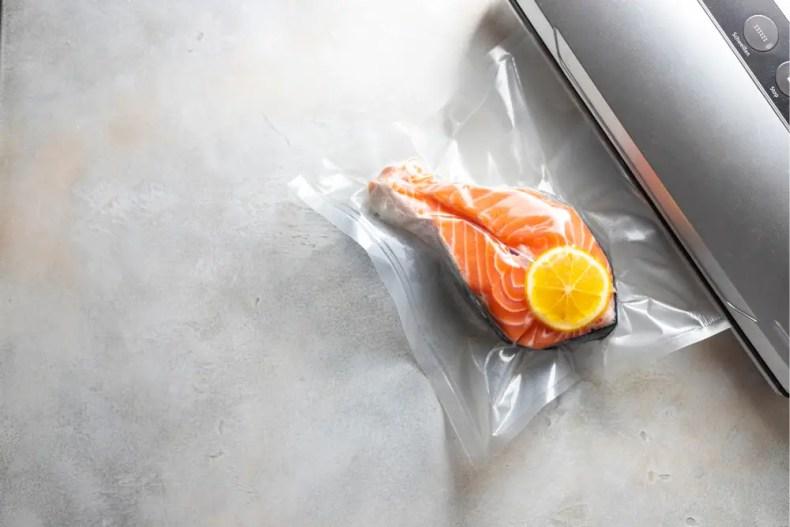 Vacuum Sealing A Salmon Fillet