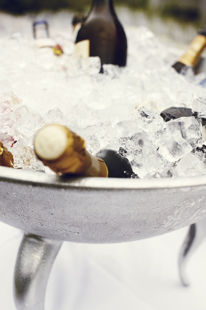 champagne chilled in ice