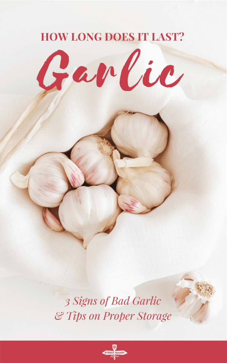 How long does garlic last? Does garlic go bad? Find out the signs of spoiled garlic and tips on how to properly store garlic.