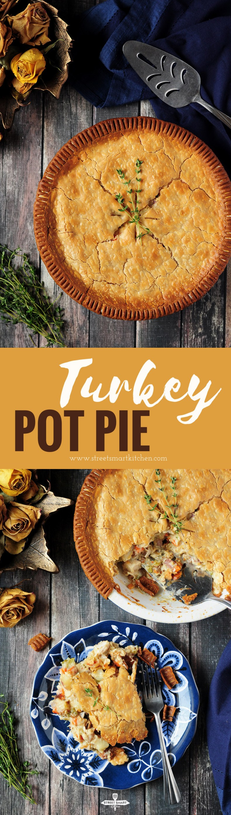 Made with simple ingredients, this turkey pot pie is a hearty dinner for your whole family. Prepare the filling the night before for an easy meal.