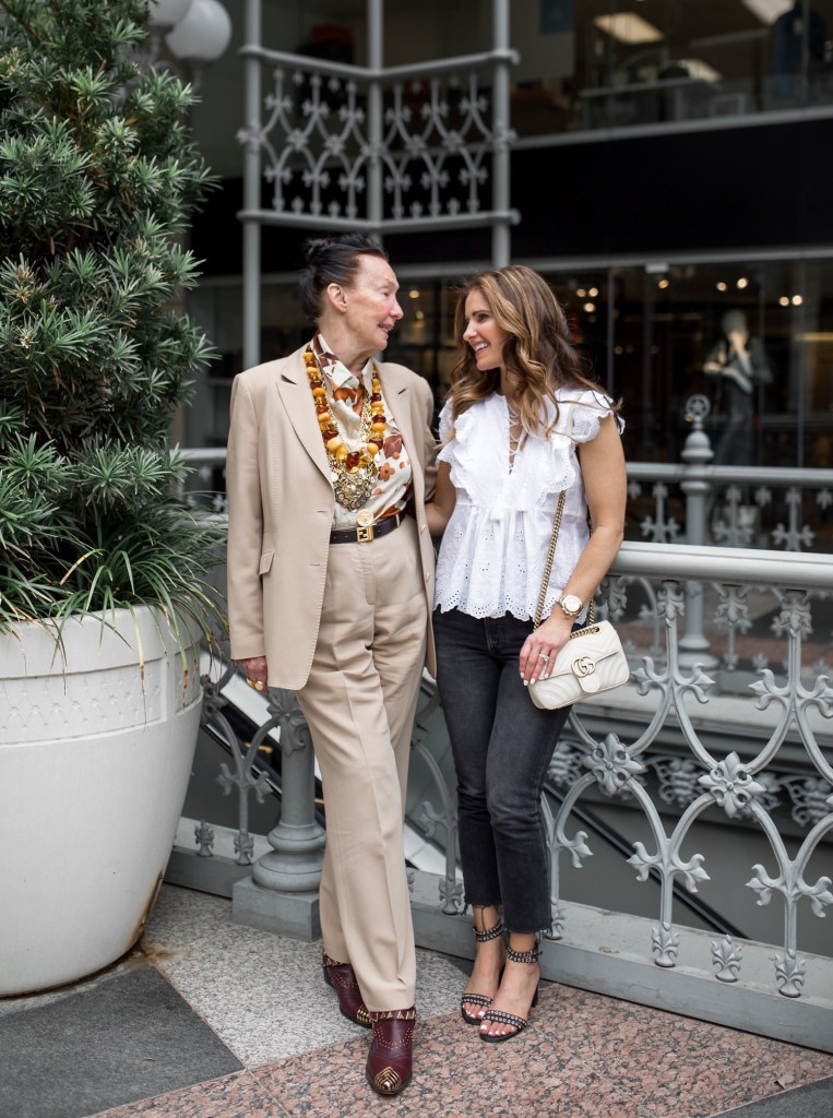 The Woman I Admire Most In The World// Dallas Fashion Blogger/ /Tiffany Davros// Ulla Johnson Monroe Top // GRLFRND Karolina High-Rise Skinny Jeans// Marion Parke Beth Eyelet Sandals// Gucci GG Marmont Shoulder Bag// Annie Costello Brown Gold Earrings// Harper Hallam gold bracelet