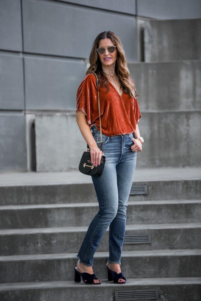 Young, Fabulous & Broke Orange Bodysuit