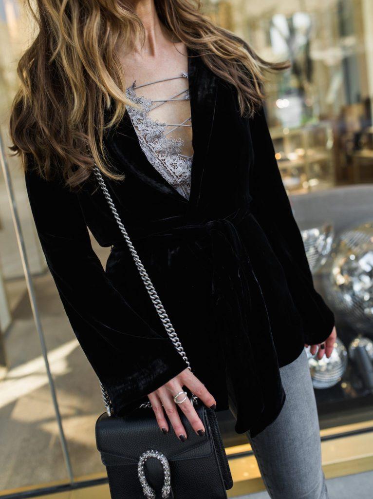 Black Velvet Smoking Jacket