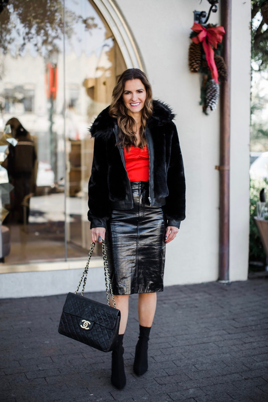 4d3249aa829 Holiday Attire Gift Guide + My Faux Fur Look Included