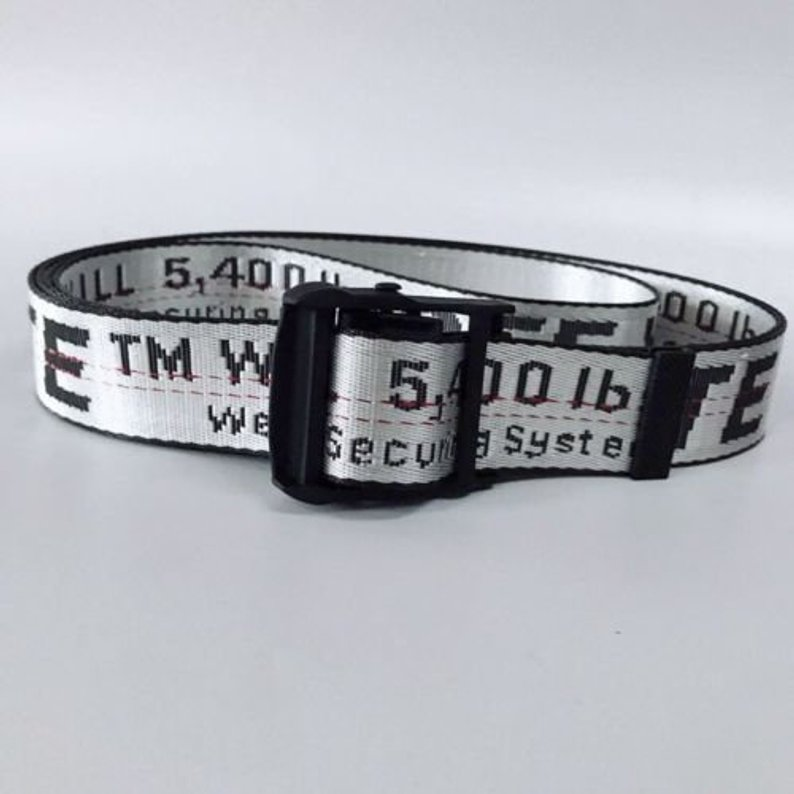 Silver 200CM 2019 New Off White Belt White
