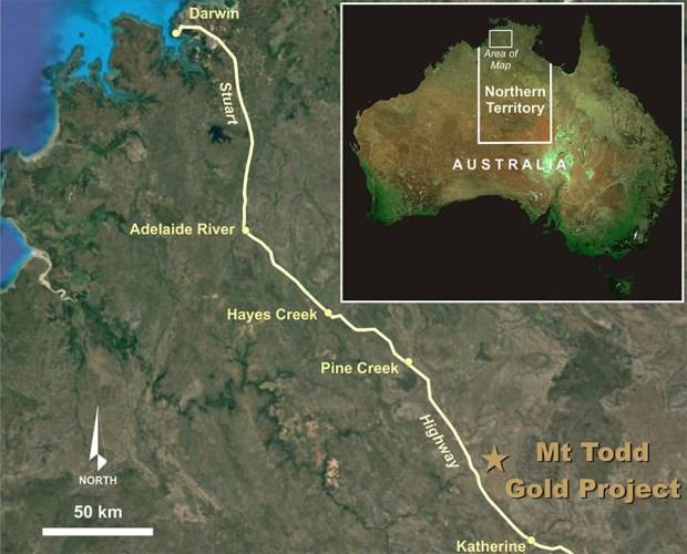 Vista Mt. Todd map
