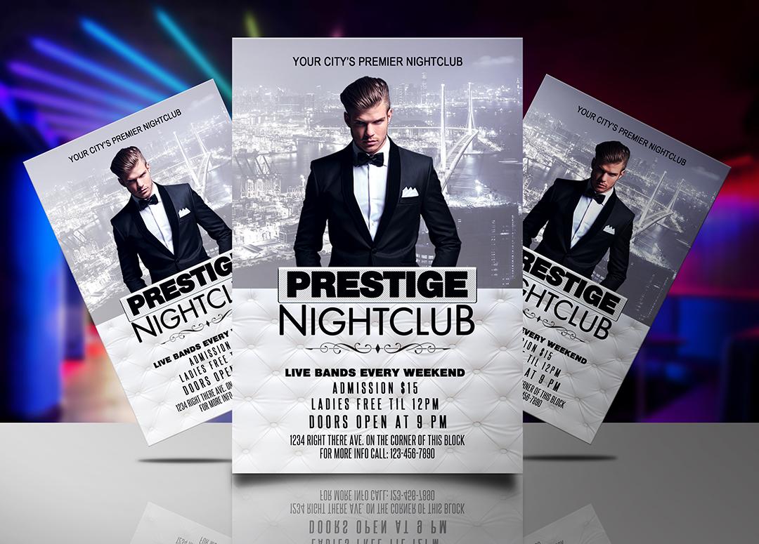 Prestige Nightclub Flyer Template   Streetz Myestro Beats