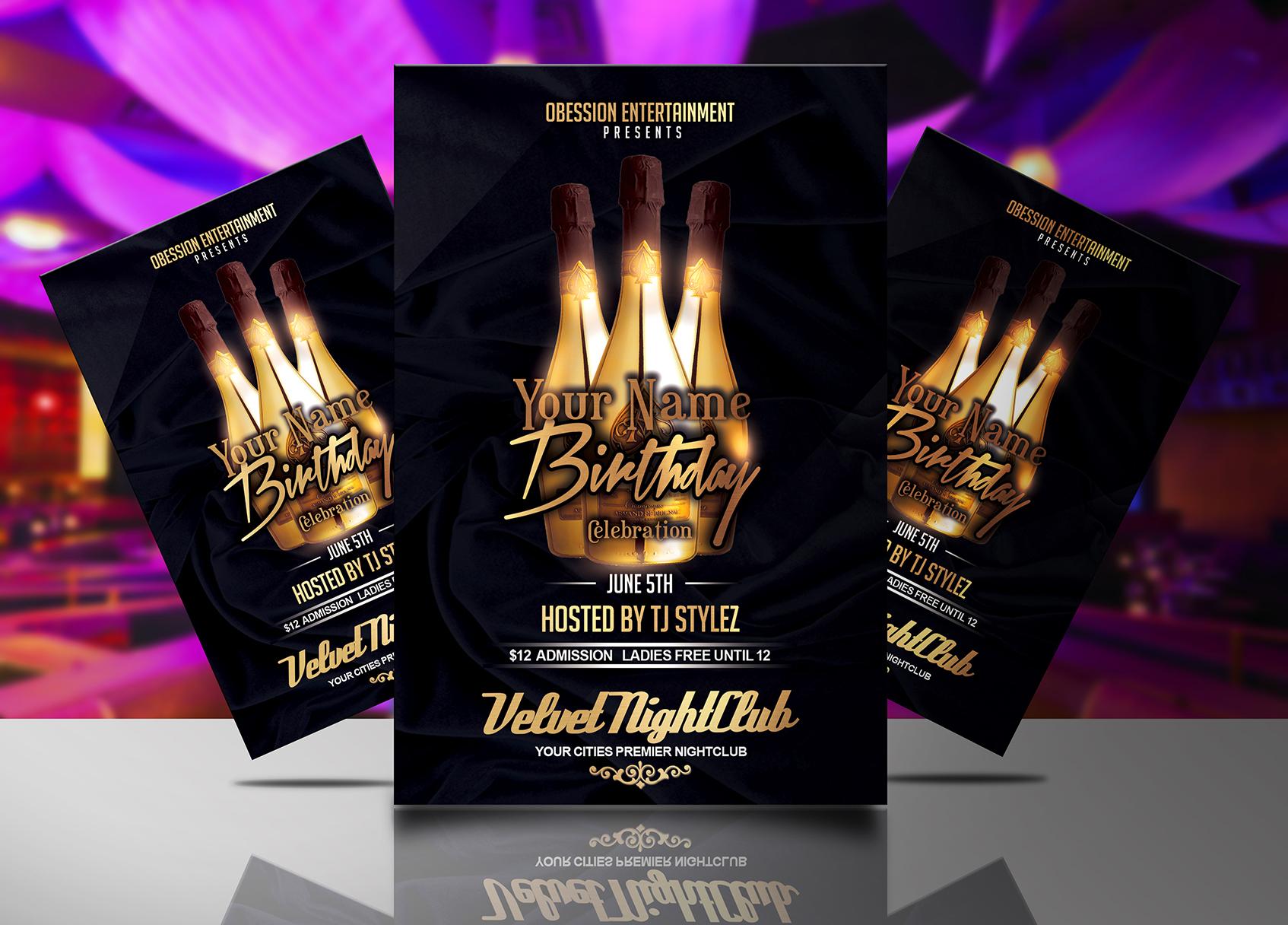 celebration flyer templates free
