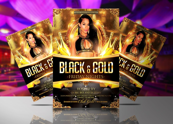 Black and Gold Flyer Template