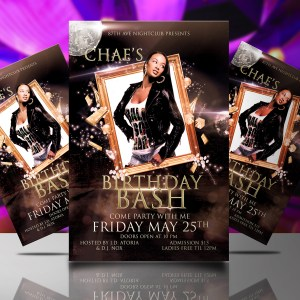 Chae's Birthday Bash Flyer Template