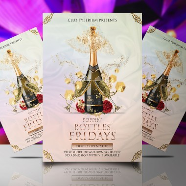 Poppin' Bottles Fridays Flyer Template