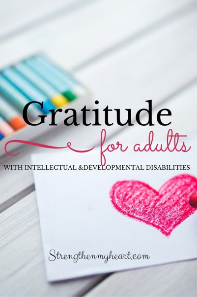 Gratitude for adults with ID and DD