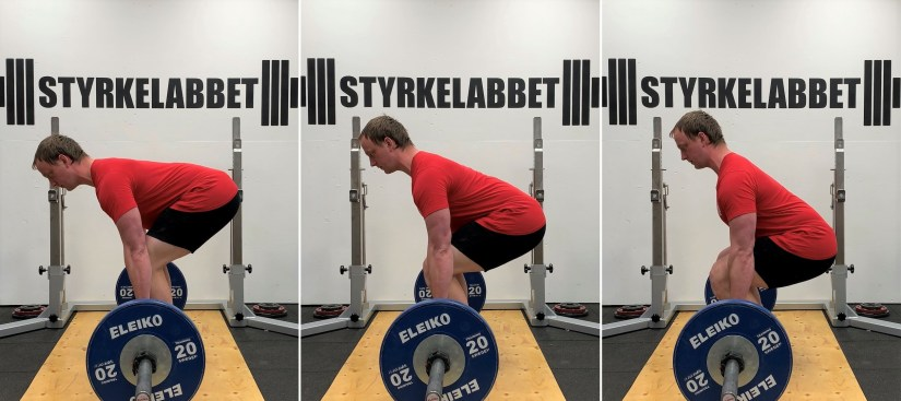 Different hip positions in the deadlift