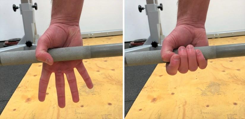 Hook grip deadlift