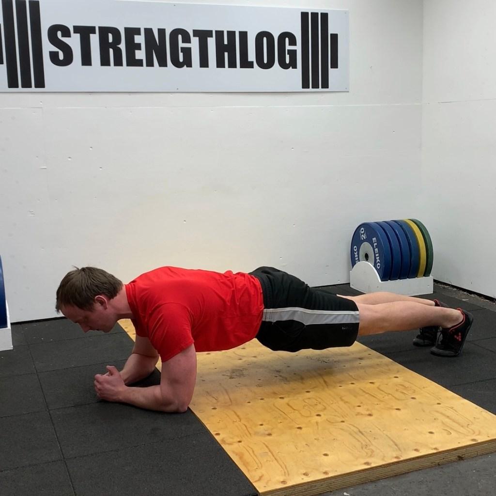 Plank exercise technique