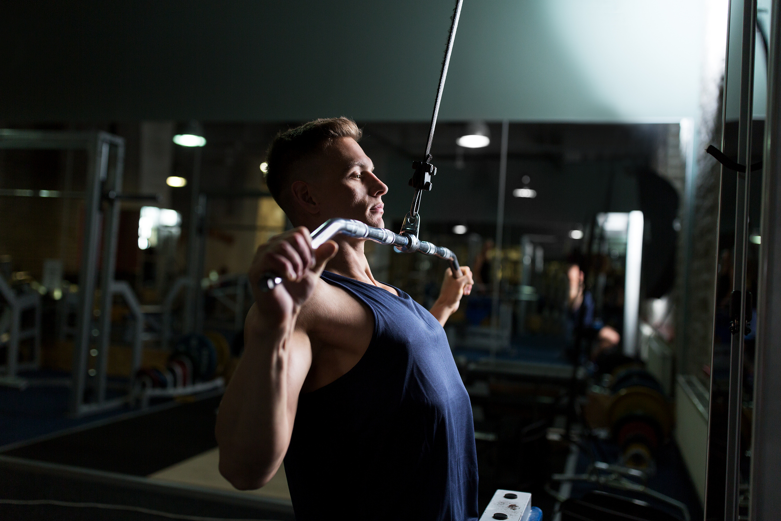 Lat pulldown for bicep training