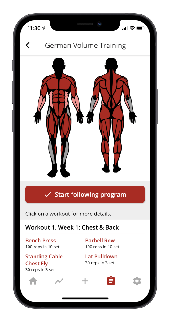 Free german volume training app 1