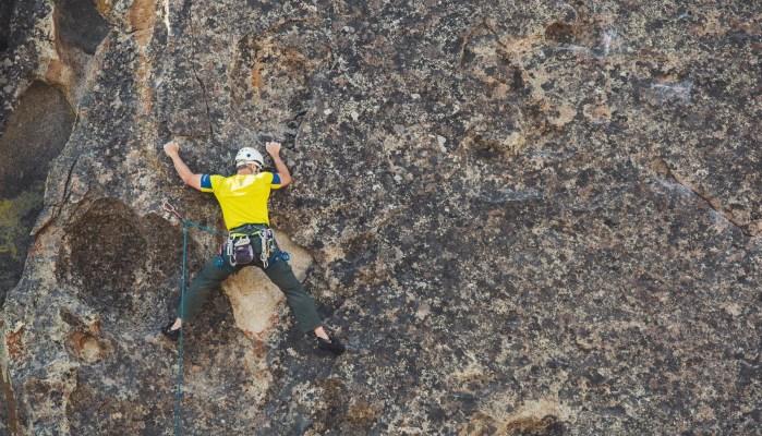 Rock climbing requires good relative strength