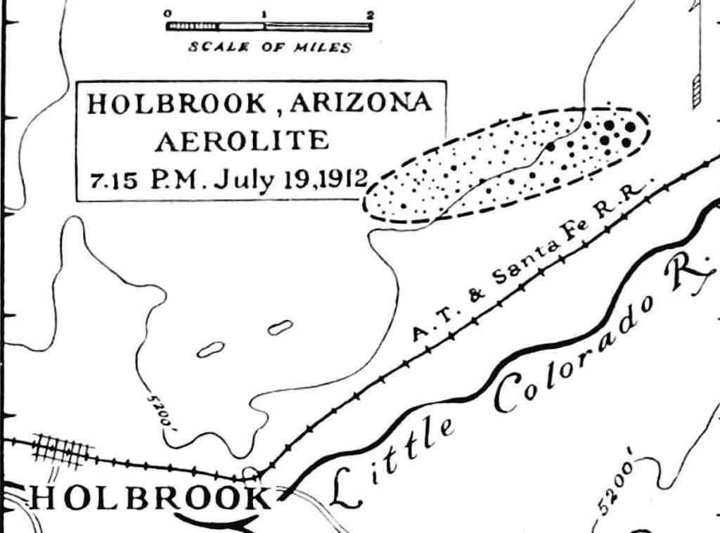 Holbrook strewn field