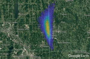 sharon meteor strewn field
