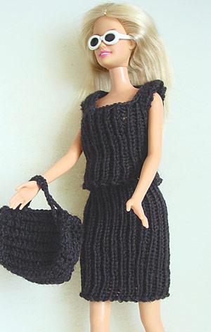 Barbie-Outfit aus einem Rest Sockenwolle (Regia Stretch)