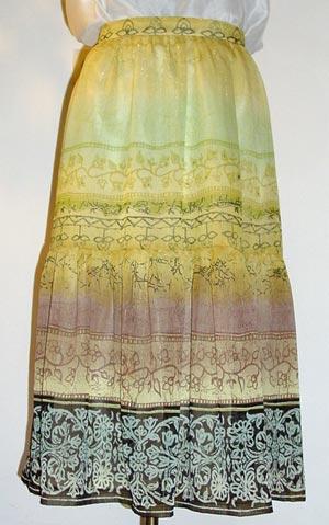 Chiffon-Rock, gefüttert; chiffon skirt with lining