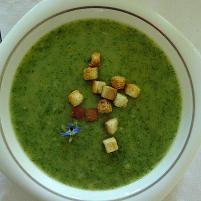 Borretschsuppe, borage soup