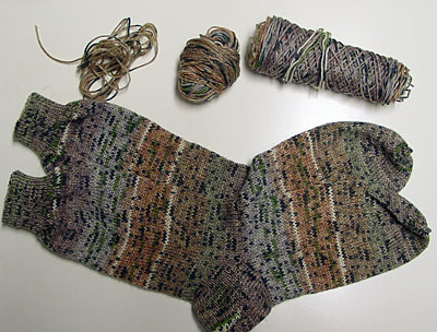 selbstmusternde Socken, self-patterned socks