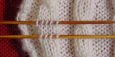 Maschen aufnehmen - picking up stitches