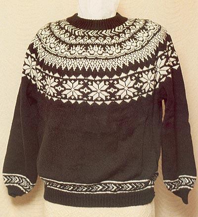 Rundpassen-Pullover, circular yoke sweater