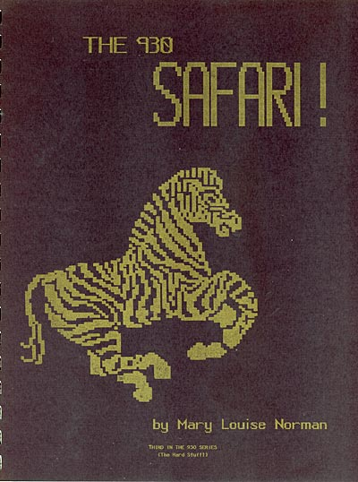 Mary Louise Norman, The 930 Safari