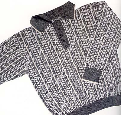Pullover mit Polo-Ausschnitt, sweater with tab and collar