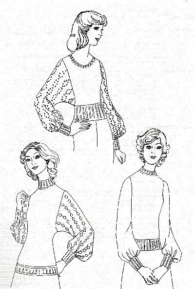 Pullover-Beispiel, example for sweater