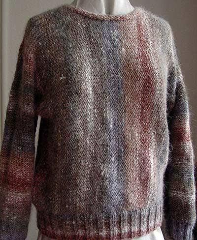 Noro Kochoran, quer gestrickt, sideways knit