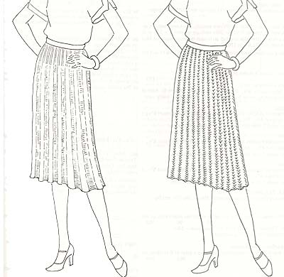Röcke im Rippenmuster, ribbed skirts