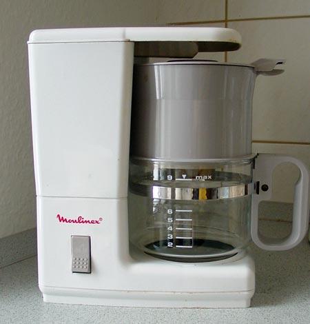 die alte Kaffeemaschine
