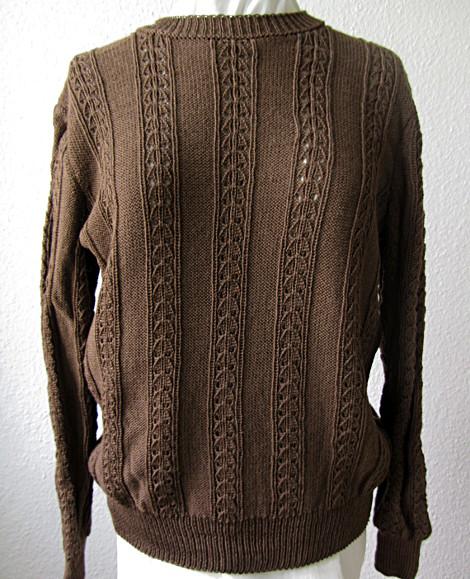 Pullover mit Rippen-Lochmuster