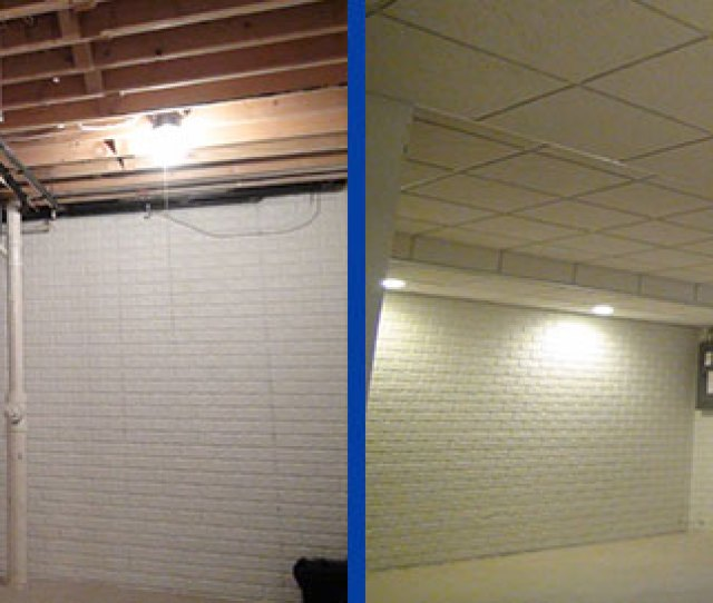 Transform Your Basement Drop Ceiling In As Little As One Day