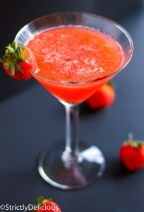 Strawberry Mojito Martini via StrictlyDelicious
