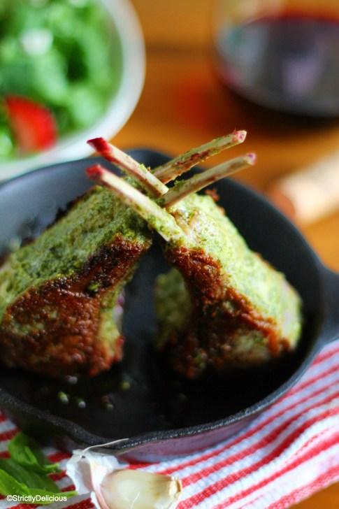 Pesto Marinated Lamb Chops via StrictlyDelicious