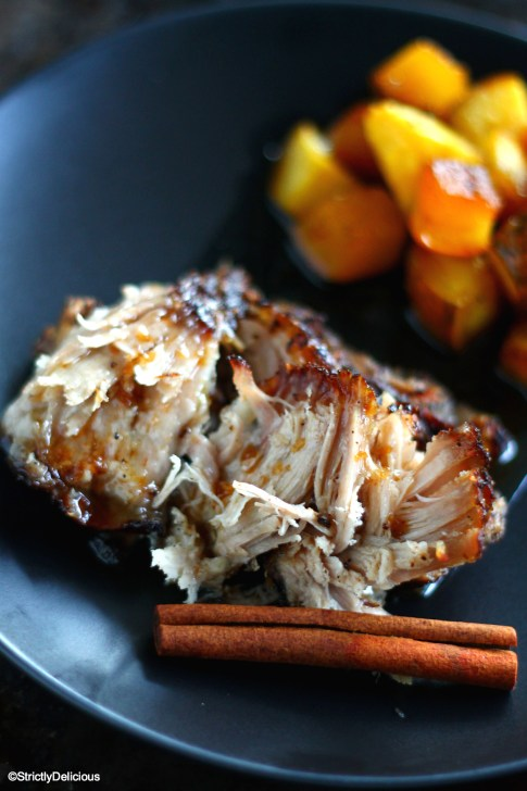Cinnamon Coffee Pork Shoulder with Maple Roasted Squash via StrictlyDelicious