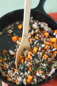 Swiss Chard, Bacon, and Roasted Butternut Lettuce Wraps | StrictlyDelicious.com