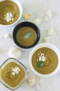 A filling, velvety green soup that features roasted cauliflower and slow-cooked greens. And it's vegan to boot! via StrictlyDelicious.com