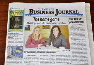 Stride in Champlain Business Journal