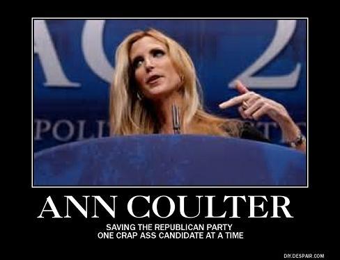 Ann Coulter crap ass poster