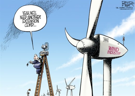 Wind energy subsidies