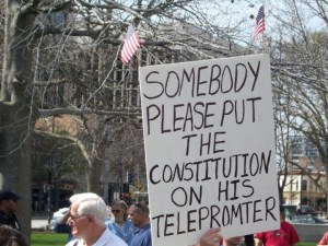 Constitution on TelePrompter