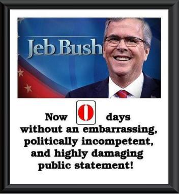 Jeb Bush Zero Days with no mistake